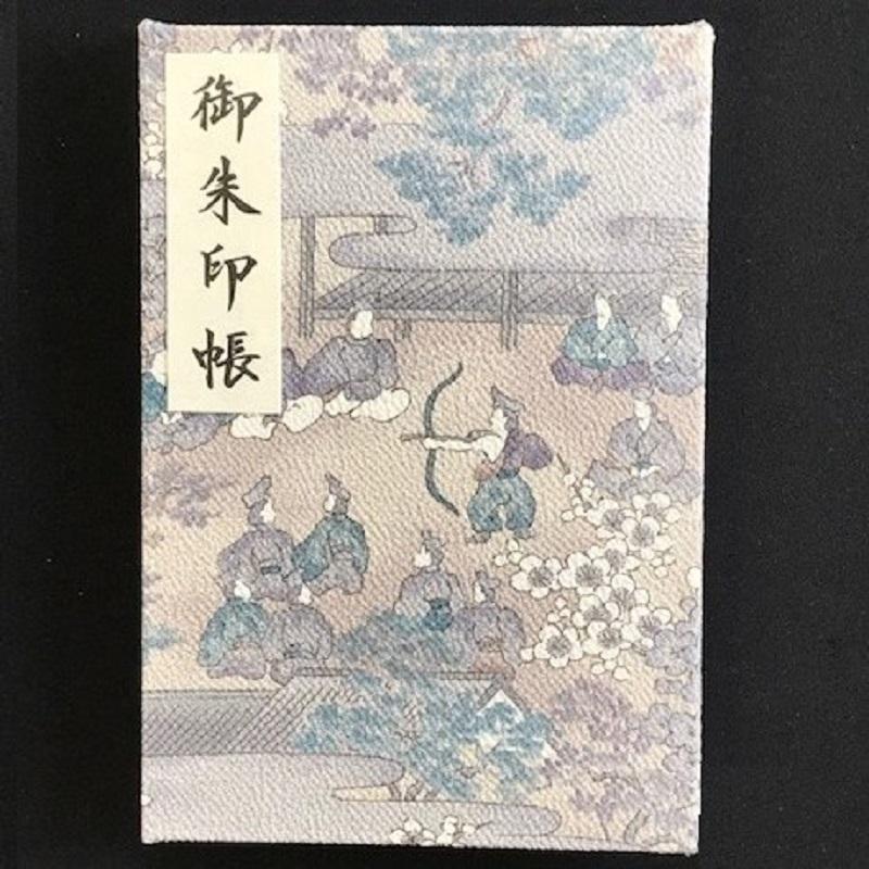 005A325 おしゃれな朱印帳(正絹着物生地使用) 時代風景