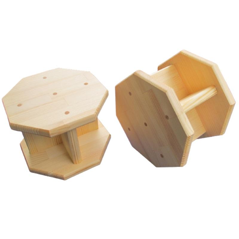 015B081 手作り木製 正座用補助椅子15cm  2個セット