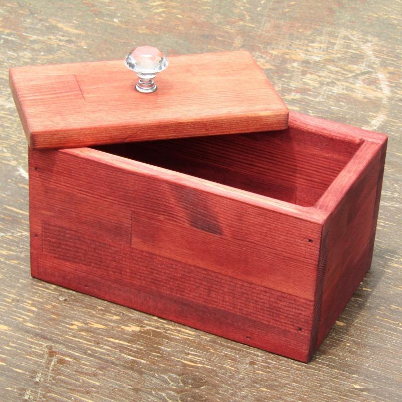 099H322 手作り木製マスクストッカー「マホガニー」クリスタルノブ仕様