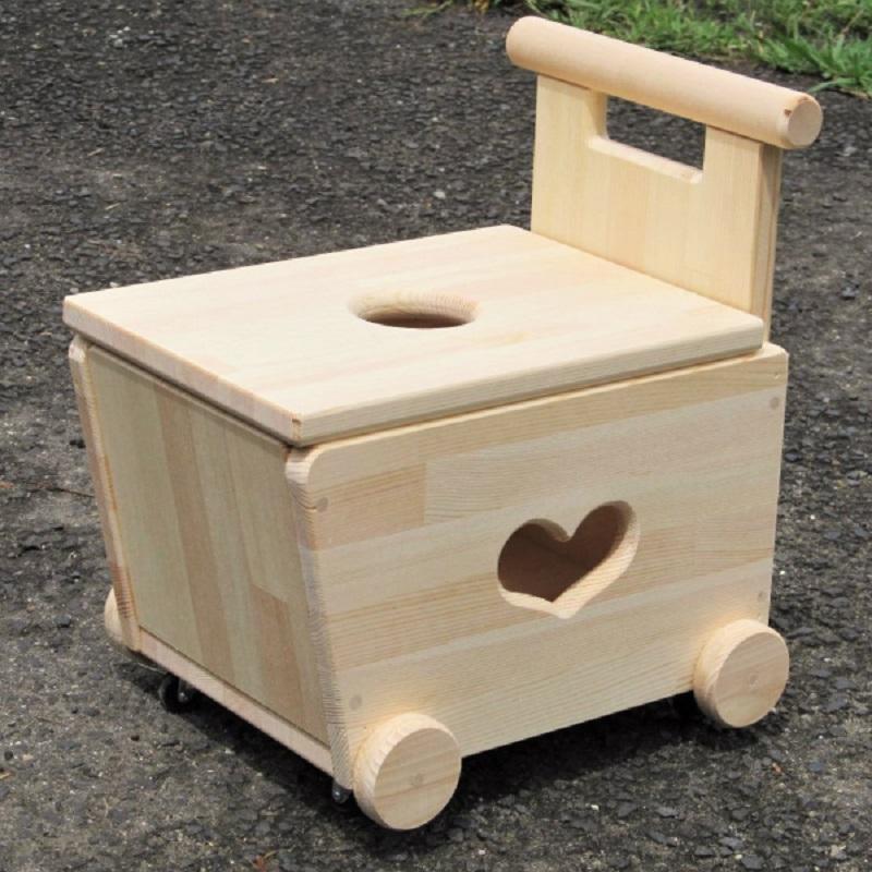099H367【クリスマス対応】手作り木製 手押し車 片面透かし2型