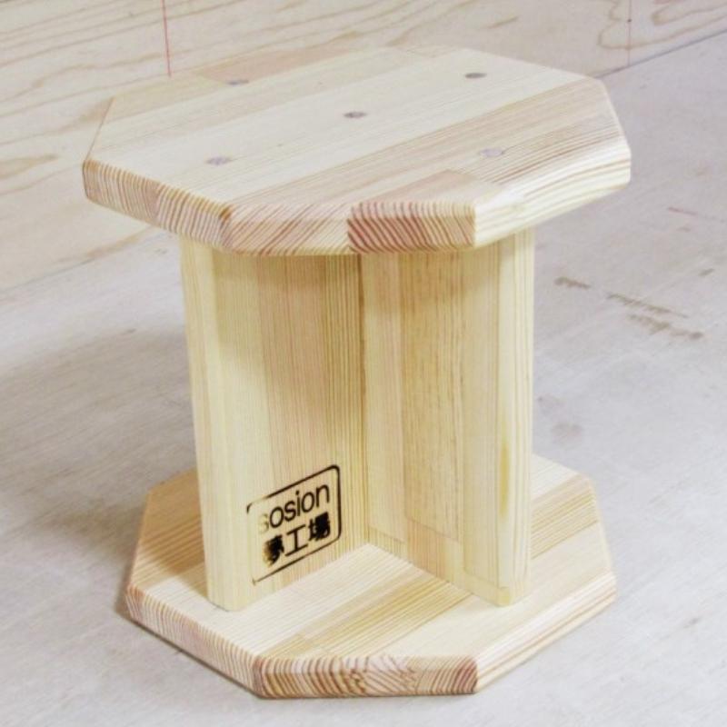 099H372 手作り木製 正座用補助椅子20cm