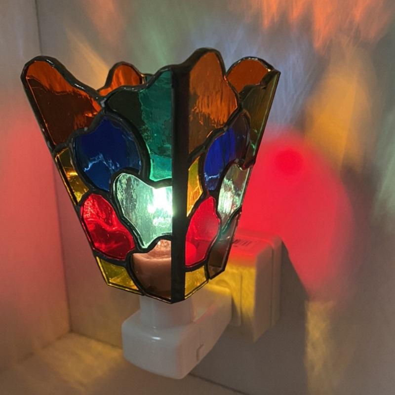 099H523  ステンドグラス・ランプ「おやすみライト」