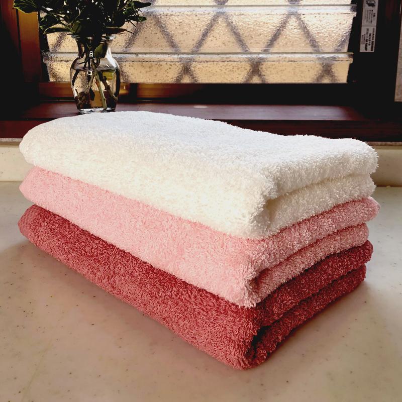 005A237 クラッシー ロングタオル3枚(ピンク系2色とオフホワイト)