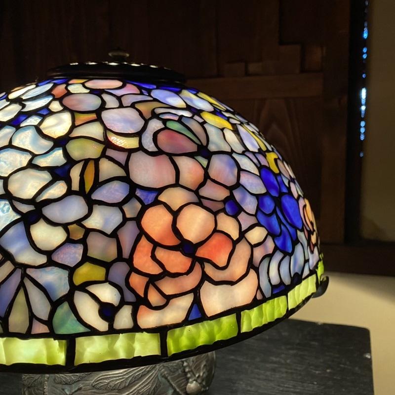099H240  ステンドグラス・ランプ「今日からの私」(紫陽花)
