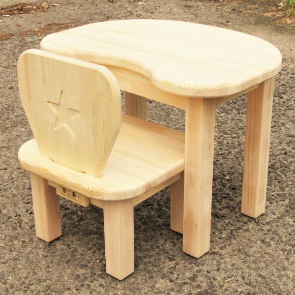 099H080 手作り木製 お子様用 机・いすセットVer.2 Mサイズ