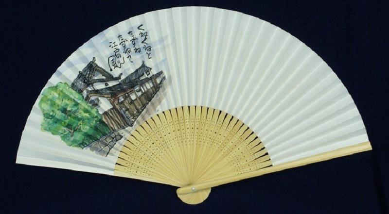 099H132 絵手紙扇子(佐野町場)