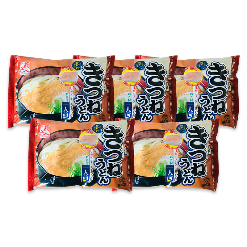 005A195 麺名人 きつねうどん(1食×5パックセット)