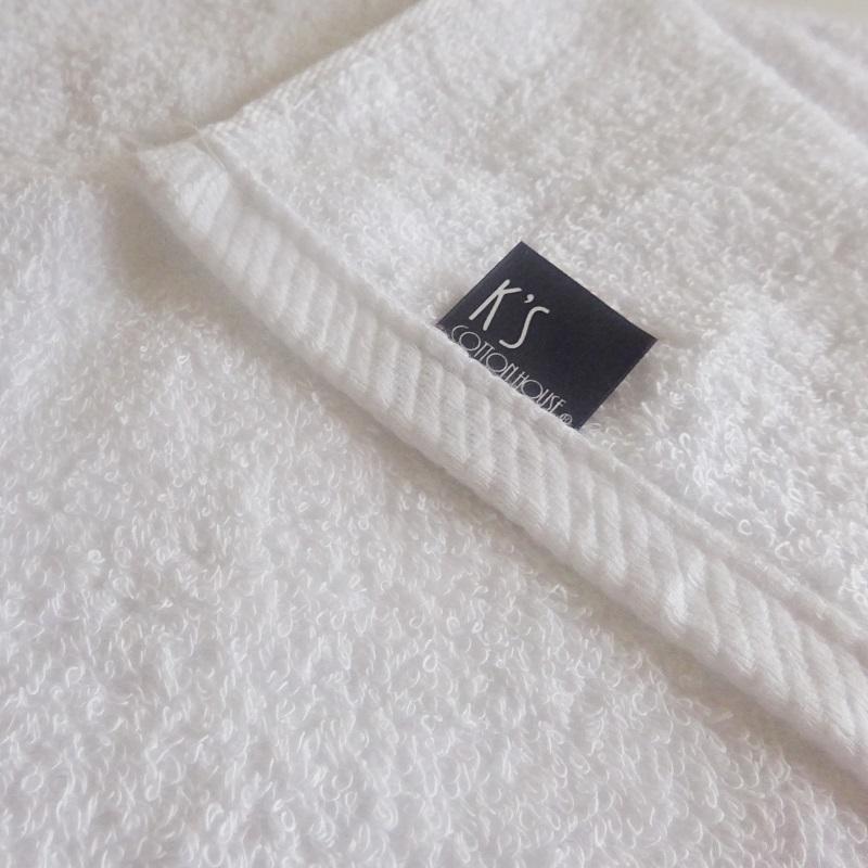 010B480 【期間限定】泉州タオル「普段使いにぴったりのミニバスタオル」6枚セット(白&サックス)