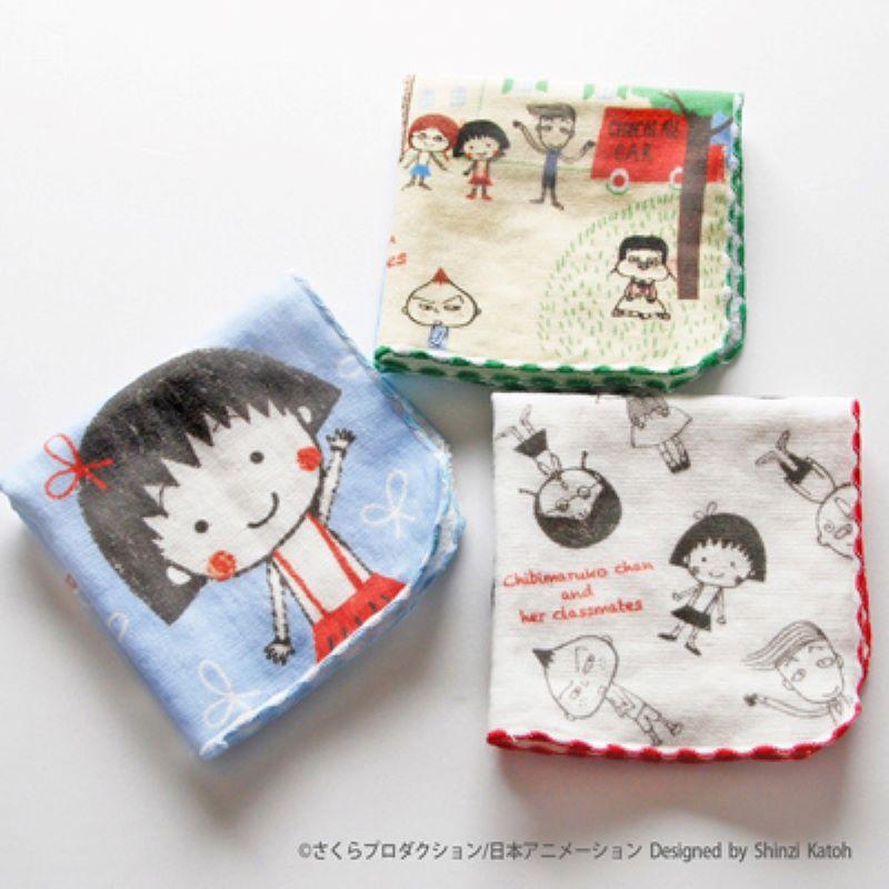 005A010 シンジカトウ「ちびまる子ちゃんハンカチ」セット