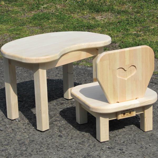 099H081 手作り木製 お子様用 机・いすセットVer.2 Sサイズ