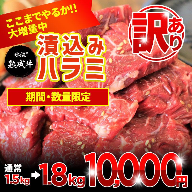010B547 【期間限定】氷温(R)熟成牛 漬込みハラミ1.8kg(+300g 限界増量)