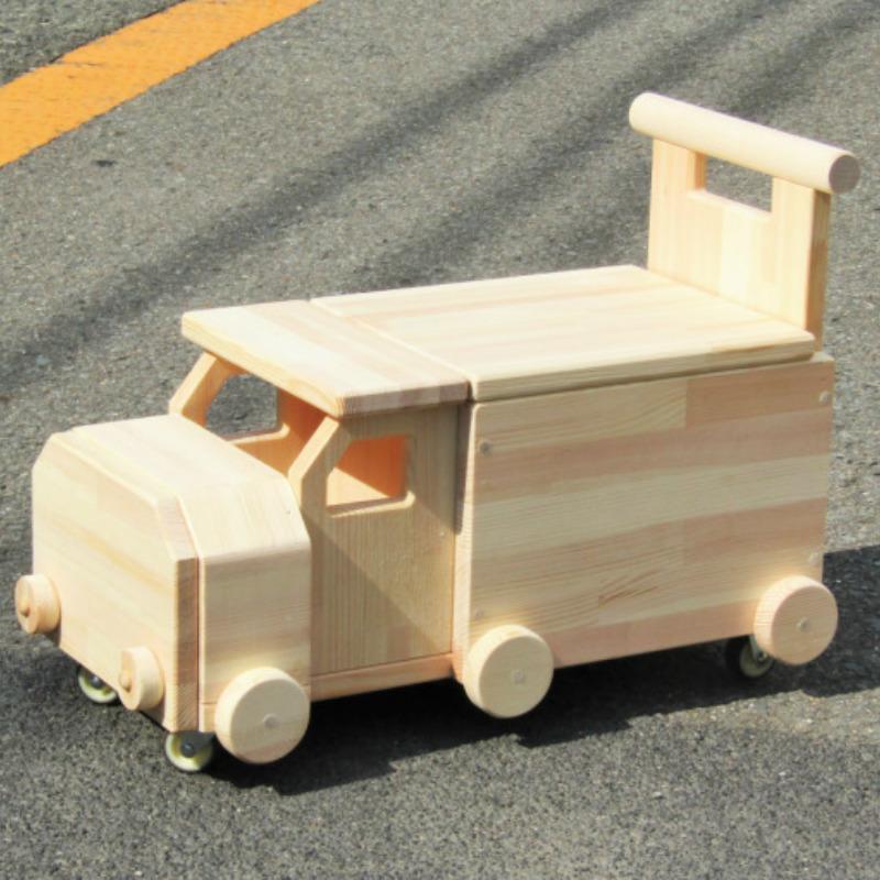 099H165 手作り木製 手押し車「コンボイ」