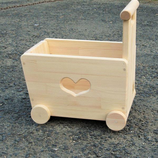 020C065 手作り木製 手押し車 片面透かし3型