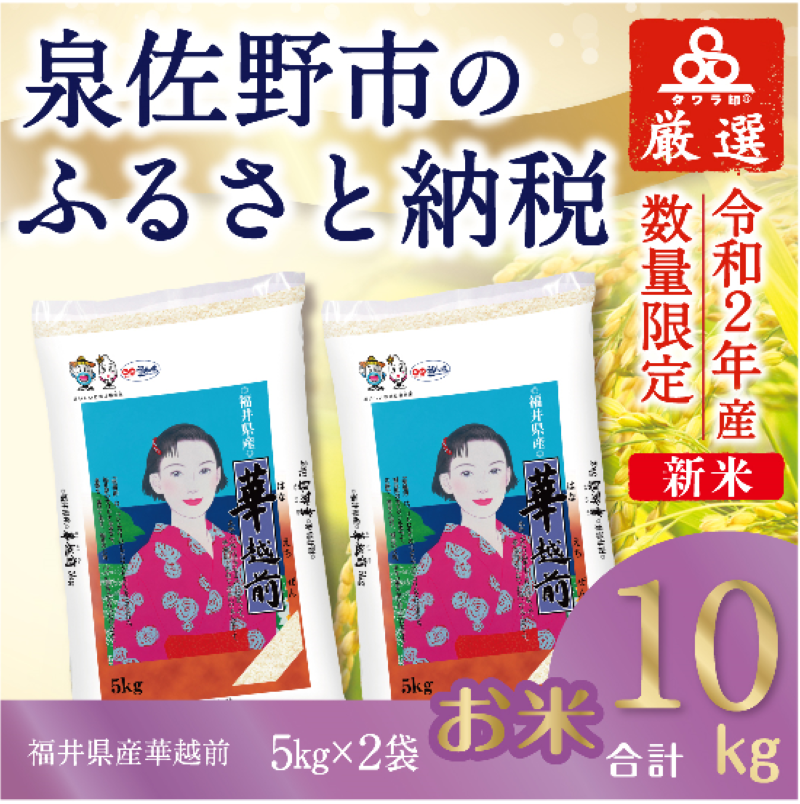 010B312 タワラ印福井華越前(5kg×2 計10kg)