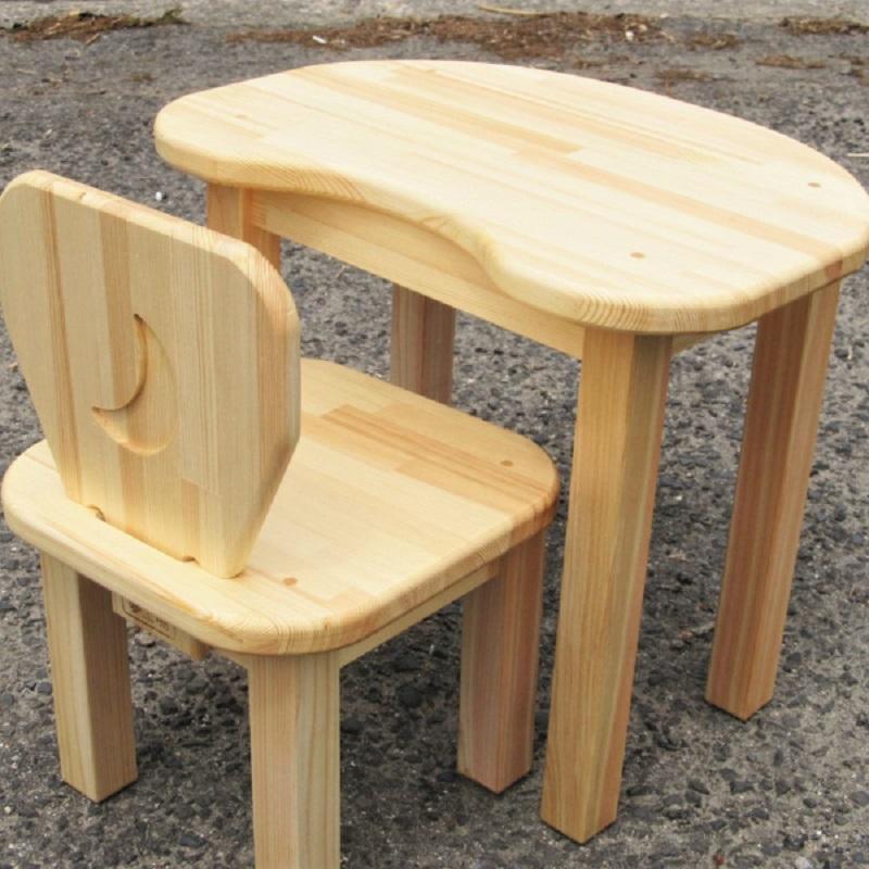 050E019 手作り木製 お子様用 机・いすセットVer.2 Lサイズ