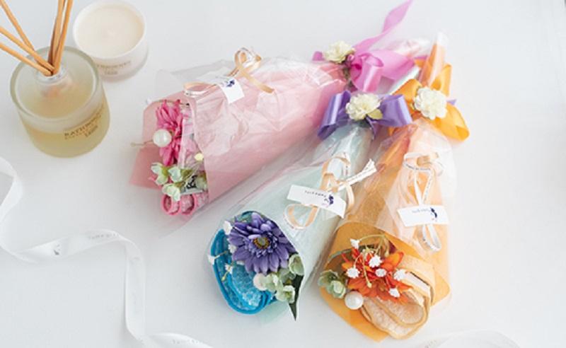 005A080 泉州タオルフラワー 花束ミニ