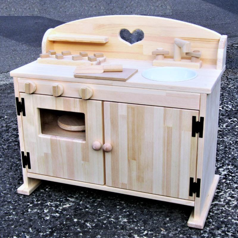 099H175 手作り木製 ままごとキッチンDHK 素材色バージョン