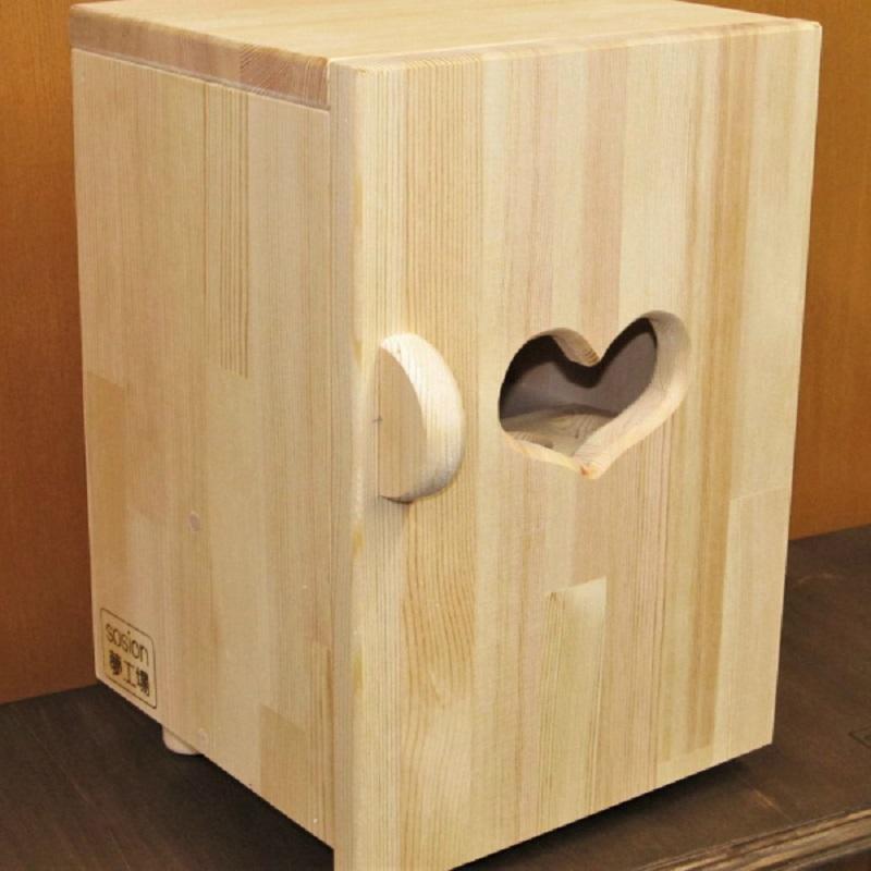 099H082 手作り木製 ままごと冷蔵庫・玉子立て付き