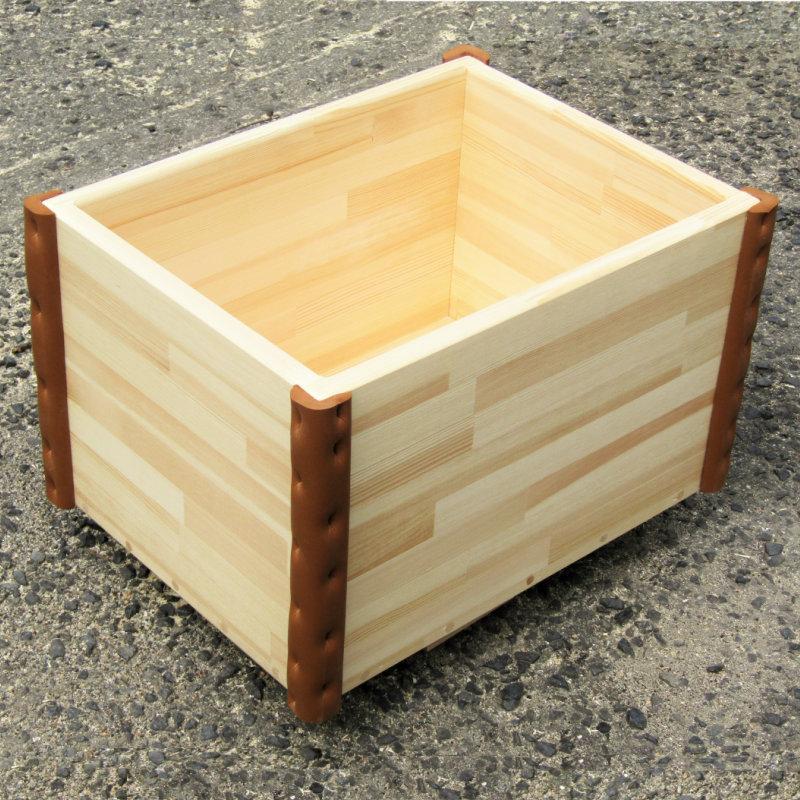 020C105 手作り木製 おもちゃ箱