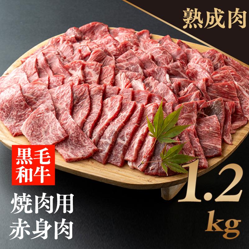 099G049 熟成黒毛和牛赤身焼肉1.2kg